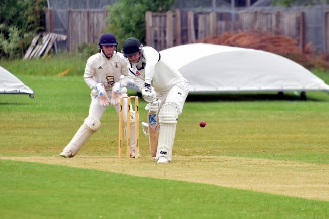 Dechlan Bailey batting during the match between Brinscall CC and Whalley CC.