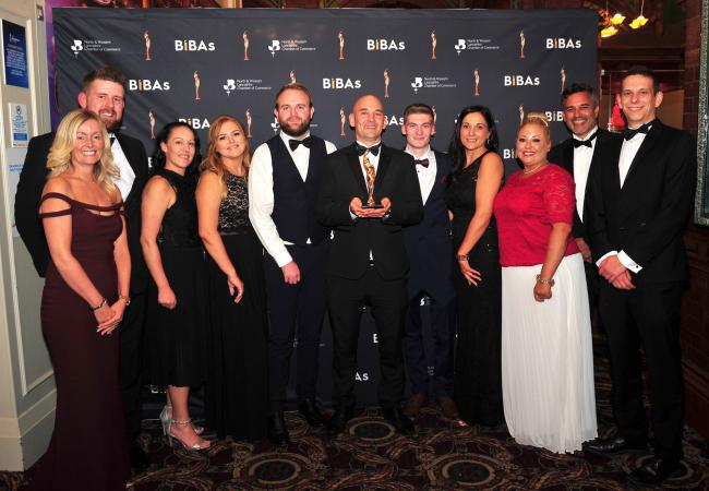 Flavour Warehouse staff at last year's BIBAs, where they celebrated winning two awards, for export and manufacturing
